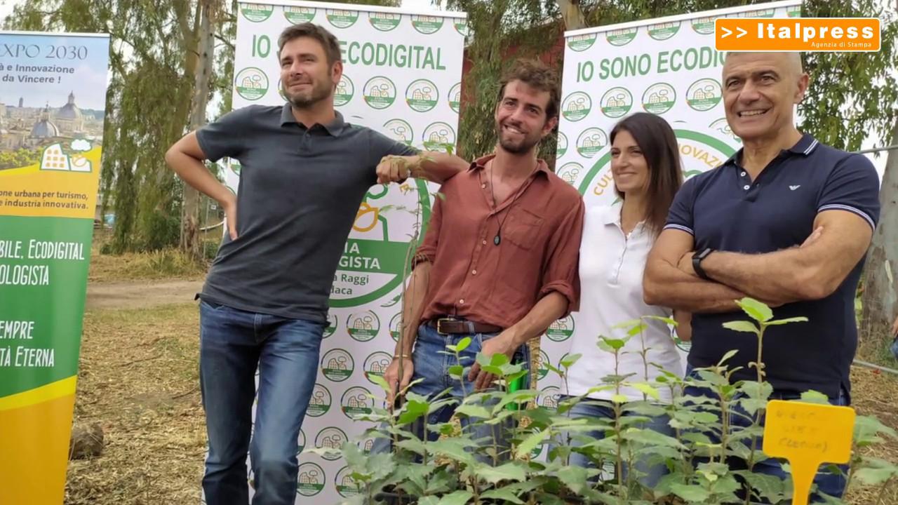 """<div>Di Battista: """"Sostegno a Raggi e Roma Ecologista per rilancio città""""</div>"""