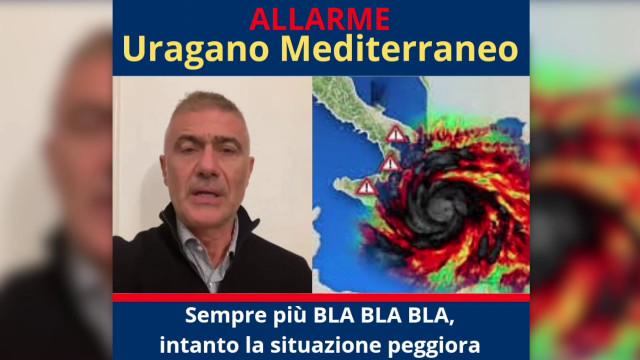 """Pecoraro Scanio: """"Allarme uragano, Italia sempre impreparata"""